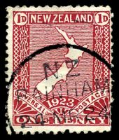 Lot 26641:Bainham: type A 'N.Z/BAINHAM/24MR24' on 1d red map. [Rated 4]  PO 1/7/1896; closed 5/2/1988.