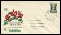 Lot 4152:WCS 1960 Queensland Stamp Centenary on FDC, neat typed address.