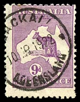 Lot 214:9d Violet - BW #28 Cat $40, cancelled with '[BL]A