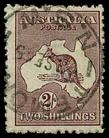 Lot 158:2/- Maroon BW #38 Cat $35, cancelled with 'TEMOR[A]/2SE2