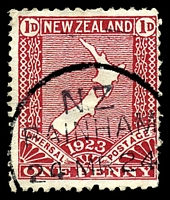 Lot 25927:Bainham: type A 'N.Z/BAINHAM/24MR24', on 1d red map. [Rated 4]  PO 1/7/1896; closed 5/2/1988.