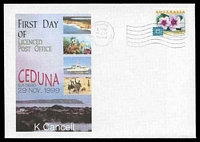 Lot 8256:Ceduna: - 'CEDUNA/5PM/29NOV/1999/S. AUST. 5690' machine on Alexander First Day of LPO cover franked with 45c.  Renamed from Murat Bay PO 1/1/1922; LPO 29/11/1999.