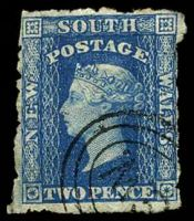 Lot 5068:1860-72 Diadems Wmk Double-Lined Numeral Perf 12 SG #137 2d Prussian blue, Cat £12, very poor perfs.