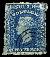 Lot 5545:1860-72 Diadems Wmk Double-Lined Numeral Perf 12 SG #137 2d Prussian blue, Cat £12, very poor perfs.