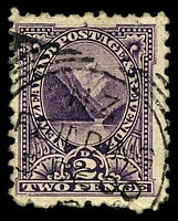 Lot 4203:Feilding: squared-circle 'N.Z/FEILDING/3DE00/[?]', on 2d purple. [Rated 6]  PO 1/10/1874.