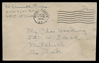 "Lot 4282:1944 use of stampless cover endorsed ""Free"", cancelled with 'FORT KNOX/FEB26/230PM/1944/KY.' (A1-) machine, on plain cover to Mitchell, South Dakota, slightly reduced at left."