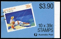 Lot 3855:1989 Fishing BW #B163 $3.90 Leigh Mardon full perf CPL paper, Cat $12, couple of small tone spots.