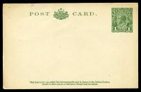 Lot 847:1925-30 1d Green KGV Sideface New Design BW #P64 Die 3, single line heading.