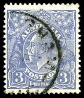 Lot 551:3d Blue Die Ia - BW #107 Cat $20, slight TRC fold.