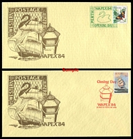 Lot 4974:1984 Wapex '84 set of 8 APO Wapex '84 covers.