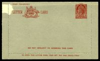 Lot 855:1953-54 3½d Red QEII Admonition in Red Panel BW #LC77 Die II, 'DO NOT NEGLECT...' on front & back, surface abrasion at TLC.