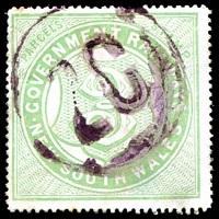 Lot 5407:1891-1915 No Wmk 3d viridine green, Cat #2.1303 some toning, TLC creases.