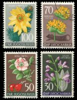 Lot 29471 [1 of 3]:1955 Flowers SG #792-800 set of 9, Cat £23, CTO cancellation, 50d is thinned at TRC.
