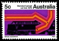 Lot 3430:1970 Standard Gauge Rail BW #516 5c, with weak 'k' in 'link'.