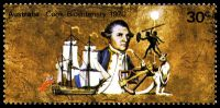 Lot 612:1970 Cook Bicentenary BW #527 30c, P13, with Double Spear, unlisted in BW on perforated stamp.