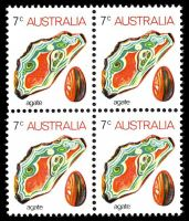 Lot 582:1973-80 Gemstones BW #643 7c Agate KP6T paper, Cat $24.