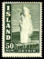 Lot 3775:1938 Geysers SG #229 50a dull green, Cat £23, some light toning.