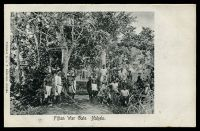 Lot 482:Fiji: L.N. Anderson black & white PPC (Dear #1) of 'Fijian War Gate. Nakelo', some mild soiling. [View not recorded.]
