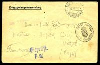 Lot 22612 [1 of 2]:1915 use of 'Kriegsgefangenensendung' envelope, cancelled with double-circle 'KÖN[IGSBRÜCK]