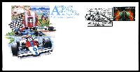 Lot 4771 [1 of 5]:1985 Grand Prix set of 4 APO Grand Prix covers cancelled with 'AUSTRALIAN FORMULA 1/GRAND PRIX/PRACTICE/DAY/[F1 car]/ADELAIDE STH. AUST. 5000/31OCT.1985', also for 1-2 NOV & 'AUSTRALIAN FORMULA 1/GRAND PRIX/[roo & checkered flag]/ADELAIDE SA 5000/3 NOV 1985', 3rd Nov cover bears Stampex '86 overprint.