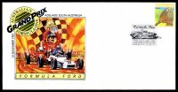 Lot 4400 [1 of 8]:1987 Grand Prix set of 4 APO Grand Prix covers, each with a different pictographic cancel for Formula Ford (12 Nov), Formula 2 (13 Nov), Touring Car (14 Nov) & Formula 1 (15 Nov).