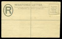 Lot 4426 [1 of 2]:1892 QV in Oval HG #C1 2d grey, 133x82mm (Size F), couple of small tone spots.