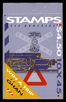 Lot 812:1993 $4.50 Trains BW #B190cc, Queensland Stamp & Coin Show opt, Cat $15.