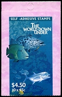 Lot 645:1995 $4.50 the World Down Under BW #B204 Cat $12.