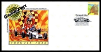 Lot 4914 [1 of 8]:1987 Grand Prix set of 4 APO Grand Prix covers, each with a different pictographic cancel for Formula Ford (12 Nov), Formula 2 (13 Nov), Touring Car (14 Nov) & Formula 1 (15 Nov).
