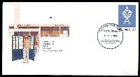 Lot 5623:Canberra (3): - 'CANBERRA/A.C.T. 2601/12APR1983/[Parliament House]' (Opening Day), on unaddressed 27c Opening of Canberra GPO PSE.  PO 12/4/1983.