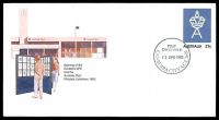 Lot 5621:Canberra (3): - 'FIRST/DAY OF ISSUE/12APR1983/CANBERRA CITY A.C.T. 2601' (Opening Day), on unaddressed 27c Opening of Canberra GPO PSE.  PO 12/4/1983.