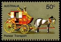 Lot 3296 [3 of 3]:1972-76 Pioneer Life BW #615d,e 50c transport, White paper, right marginal block of 8, with Retouch under horse's hind legs [R3/5] & White flaws on horse's blinker & neck [R4/4], Cat $30.