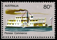 Lot 779 [3 of 3]:1972-76 Pioneer Life BW #619f,g 80c Commerce, White paper, BLC block of 4, TRC with Retouch left of '80c' [L9/2] & BLC with Retouch in lower left corner below 'Pio' of 'Pioneer' [L10/1], Cat $24.