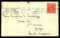 Lot 5029:1927 use of 1½d red KGV, cancelled with Melbourne Krag of 4JE27, on cover to South Australia, includes letter on The Round Table letterhead sheet.