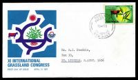 Lot 692:APO 1970 5c Grassland Congress on FDC, cancelled with Adelaide FDoI, neat typed address, light toning around stamp.