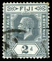 Lot 4041:Davutu: light straight-line 'DAVUT[U]' on 2d grey KGV.  PO 1/3/1915; closed 20/10/1938.