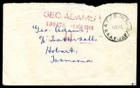 Lot 878:A.F.P.O. 'A.F.P.O. NO30/18OC48/R.A.A.F · JAPAN' on stampless British Commonwealth Forces cover to Tatts.
