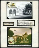 Lot 18849 [1 of 2]:Bridgetown: - 'BRIDGETOWN/1015A27FE80/WA-6255' on 20c bird & 'BRIDGETOWN/3P7AP81/WA-6255' on album page with Nov 1979 & 7/4/1981 photos of the PO & a colour PPC from approx 1980.  Renamed from Geejelup PO c.-/2/1872.