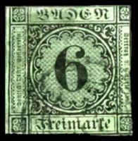 Lot 22428:1851-58 Numeral in Circle Mi #3b 6k black on yellow-green, Cat €60, 1 full margin, 3 close.
