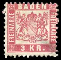 Lot 22437:1862 Arms Perf 10 Mi #18 3k light carmine-red, Cat €60, thinned BRC.