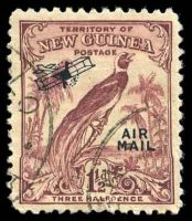 Lot 23458:1932-34 Undated Birds 'AIR/MAIL' Overprints SG #192 1½d claret.