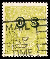 Lot 811:4d Olive Overprinted 'OS' - BW #116(OS) Cat $25.