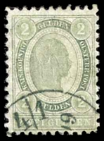 Lot 3572 [2 of 2]:1896 New Colours SG #105-6 1g lilac & 2g green P10½, Cat £71.
