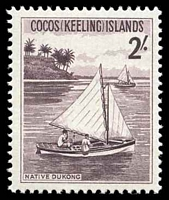 Lot 20170:1963 Pictorials SG #5 2/- Dukong (sail boat).
