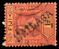 Lot 3441:Nailaga: straight-line 'NAILAGA' on KEVII 1d red. [Rated 100 by Proud]  PO c.1905; closed 18/8/1915.