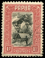 Lot 4227:1932-40 Pictorials SG #132 1½d black & lake Tree Houses.