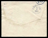 Lot 27942 [2 of 2]:1901 use of 10ö Oscar II, cancelled with dotted circle 'BOLLNAS/1i11br./3/1901' (A1), on plain cover, backstamped with dotted circle 'SKÖFDE/11/3/1901' (A1-) arrival.