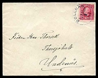 Lot 27942 [1 of 2]:1901 use of 10ö Oscar II, cancelled with dotted circle 'BOLLNAS/1i11br./3/1901' (A1), on plain cover, backstamped with dotted circle 'SKÖFDE/11/3/1901' (A1-) arrival.