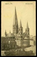 Lot 105:Germany: Kunstanstalt sepia PPC of 'BONN a. Rh./Münsterkirche', some slight toning.