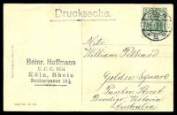 Lot 476 [2 of 2]:Germany: Hölzermann sepia PPC of 'Köln a. Rh. Dom-Hotel.', franked with 5pf green Germania, cancelled with double-circle 'COLN/23.4.13 5-6N/*11c' (A1-), to Bendigo, Vic.